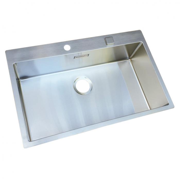 Chiuveta bucatarie inox CookingAid BOX LUX 76 cu ventil automat scurgere + accesorii montaj 5