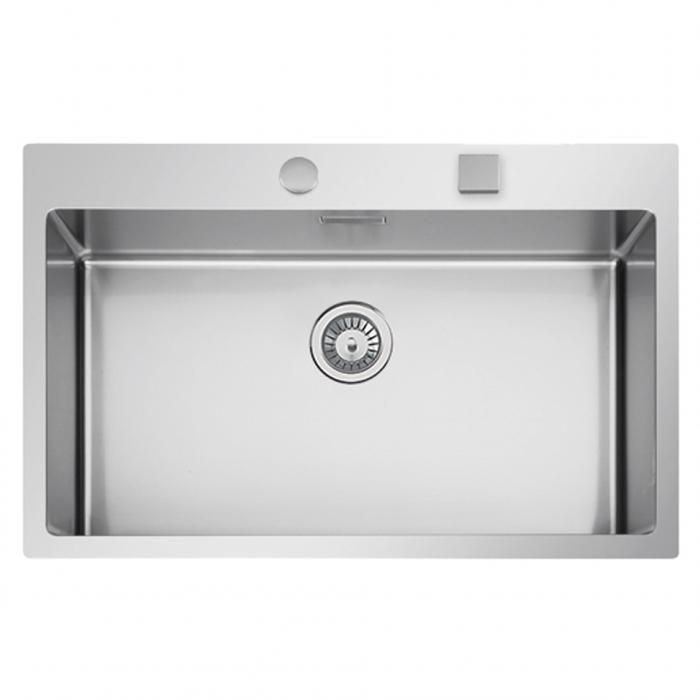 Chiuveta bucatarie inox CookingAid BOX LUX 76 cu ventil automat scurgere + accesorii montaj 2