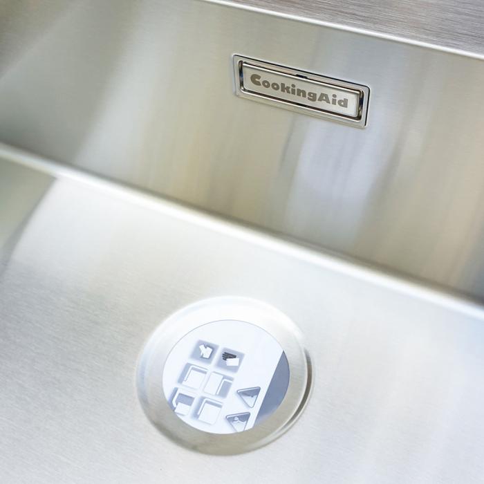 Chiuveta bucatarie inox CookingAid BOX LUX 76 cu ventil automat scurgere + accesorii montaj 9