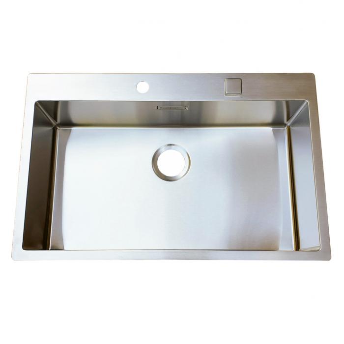 Chiuveta bucatarie inox CookingAid BOX LUX 76 cu ventil automat scurgere + accesorii montaj 3