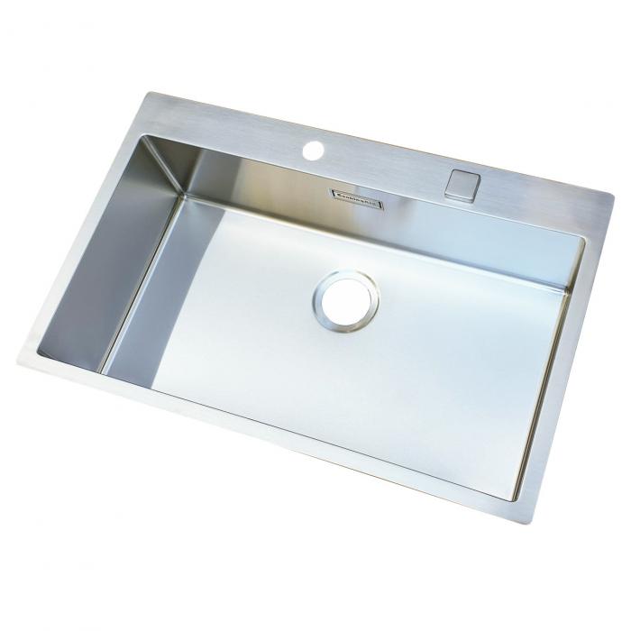 Chiuveta bucatarie inox CookingAid BOX LUX 76 cu ventil automat scurgere + accesorii montaj 4