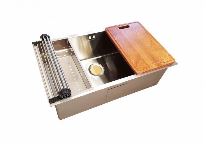 Chiuveta bucatarie inox CookingAid HERA LARGE cu accesorii montaj [4]