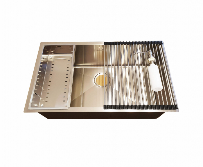 Chiuveta bucatarie inox CookingAid HERA LARGE cu accesorii montaj [5]