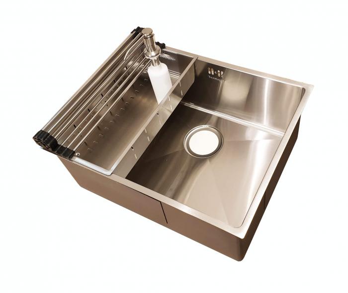 Chiuveta bucatarie inox CookingAid HERA MEDIUM si accesorii [0]