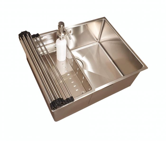Chiuveta bucatarie inox CookingAid HERA MEDIUM si accesorii [4]