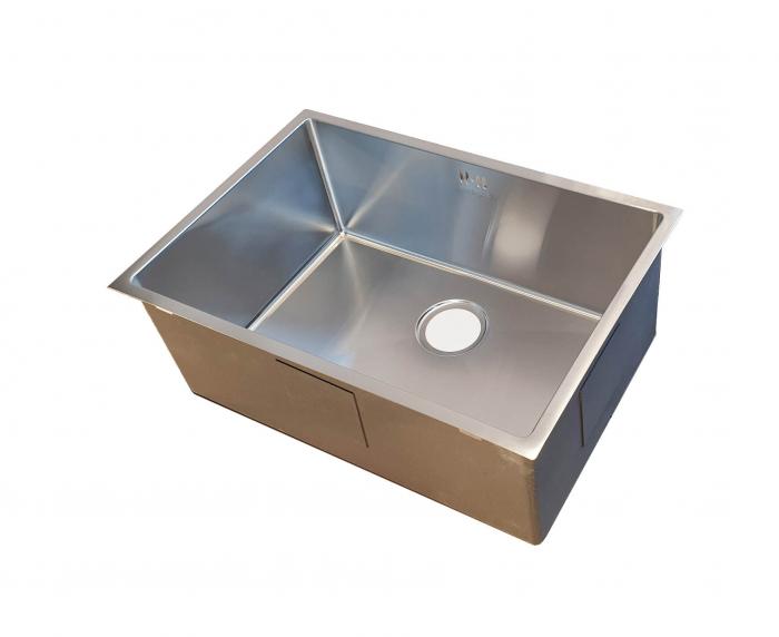 Chiuveta bucatarie inox CookingAid HERA STANDARD cu dozator detergent, scurgator vase/paste/fructe, gratar rulabil inox, tocator lemn Sapele + accesorii montaj 6