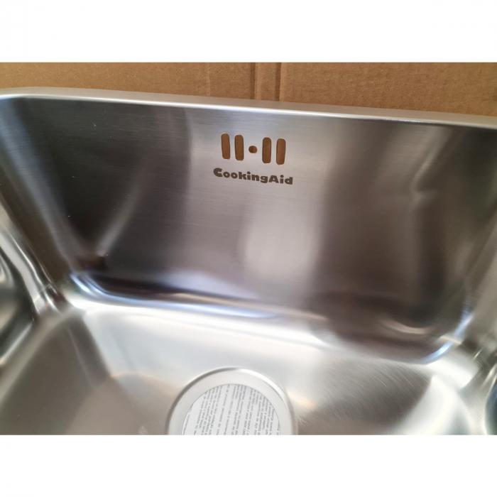 Chiuveta bucatarie inox CookingAid INDUS 50 cu montaj sub blat + accesorii montaj [6]
