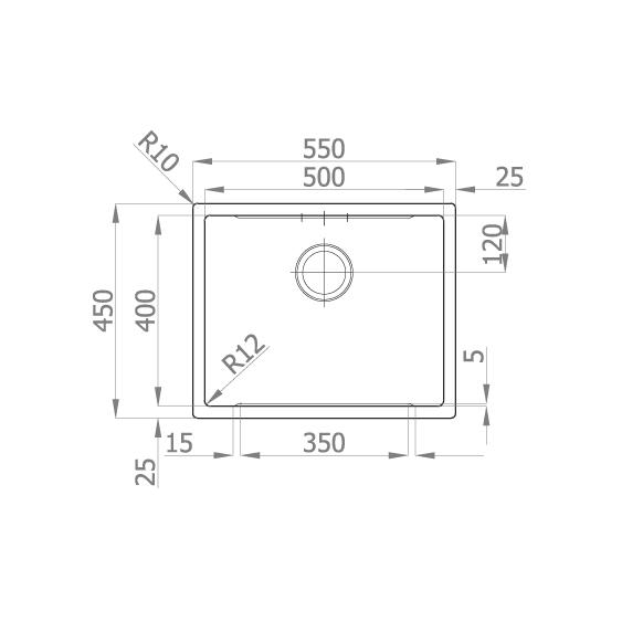 Chiuveta bucatarie inox CookingAid LUX STEP 50 + Bonus: tocator Versus din ABS reversibil in scurgator vase + accesorii montaj [8]