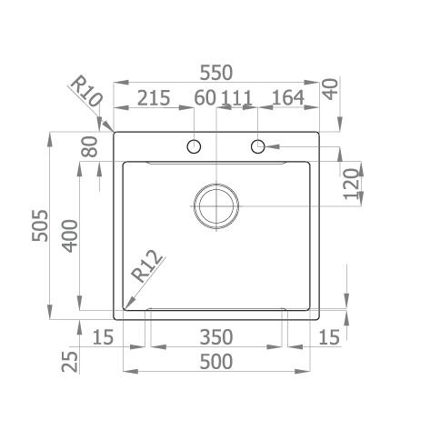 Chiuveta bucatarie inox CookingAid LUX STEP 57 + Bonus: tocator Versus din ABS reversibil in scurgator vase + ventil automat scurgere + accesorii montaj 11