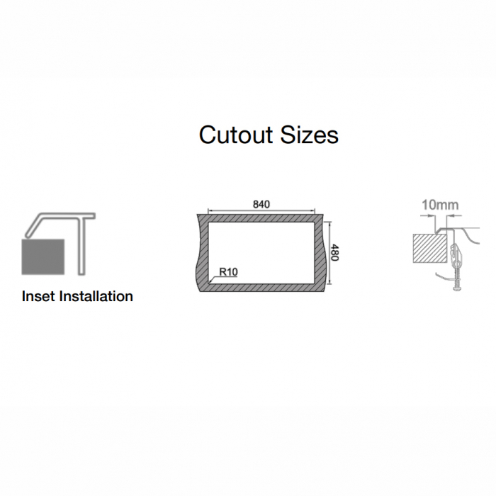 Chiuveta bucatarie inox CookingAid OKIO LINE 103 PL reversibila stanga/dreapta cu picurator si accesorii montaj [5]
