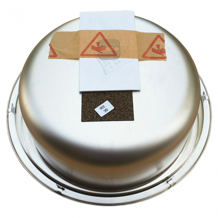 Chiuveta bucatarie inox CookingAid PIO REDONDO PL rotunda finisaj SATINAT + accesorii montaj [6]