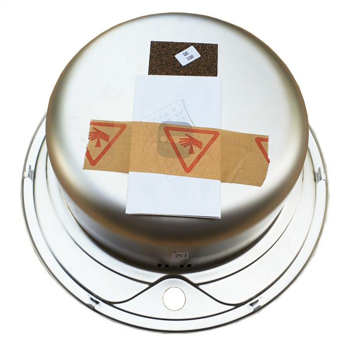 Chiuveta bucatarie inox CookingAid PIO REDONDO PL rotunda finisaj SATINAT + accesorii montaj [7]