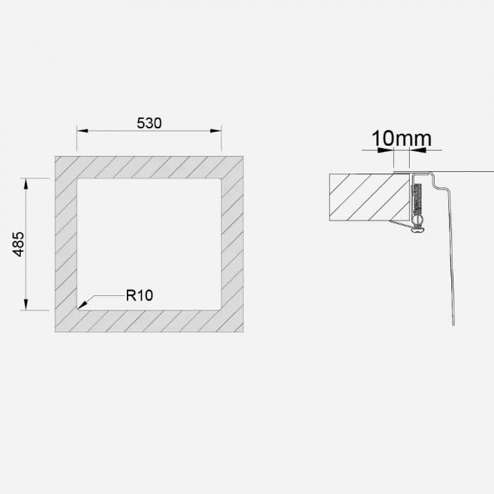 Chiuveta bucatarie inox CookingAid UNA 57 + Bonus: tocator Versus din ABS reversibil in scurgator vase + accesorii montaj [6]