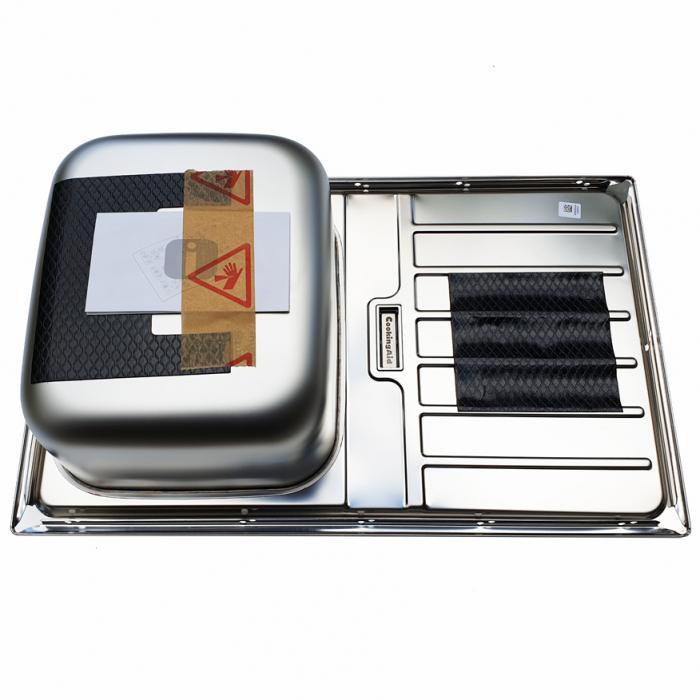 Chiuveta bucatarie inox CookingAid URBAN 80B reversibila stanga/dreapta cu picurator + accesorii montaj 6