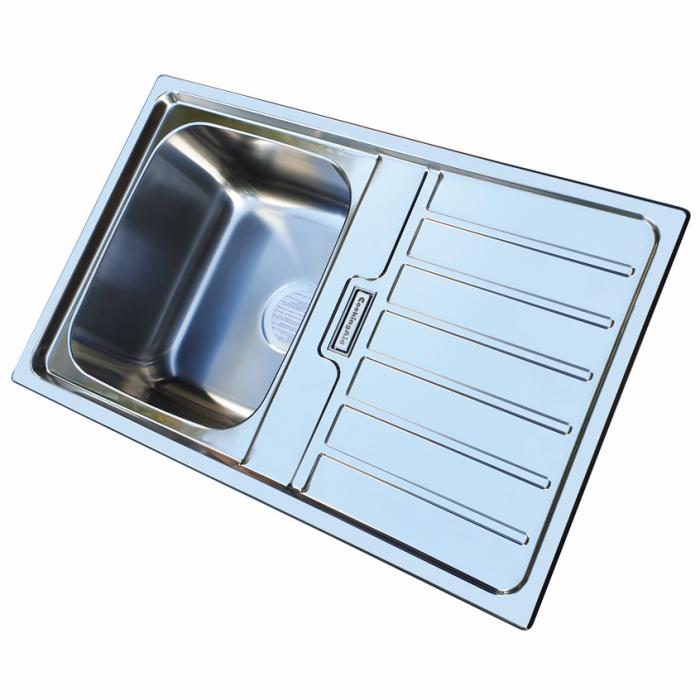 Chiuveta bucatarie inox CookingAid URBAN 80B reversibila stanga/dreapta cu picurator + accesorii montaj 3