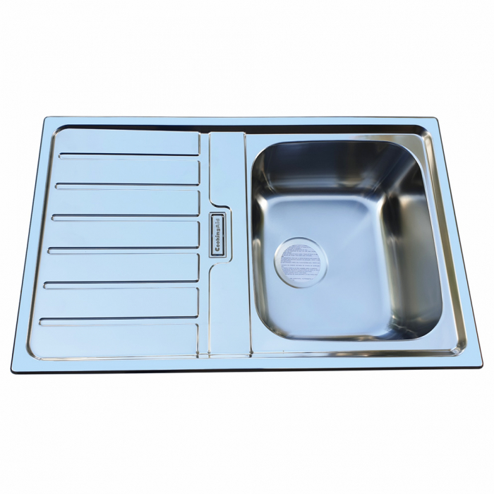 Chiuveta bucatarie inox CookingAid URBAN 80B reversibila stanga/dreapta cu picurator + accesorii montaj 1