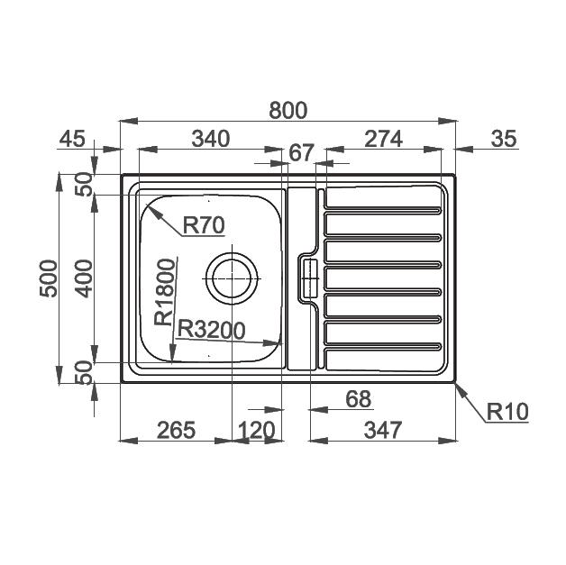 Chiuveta bucatarie inox CookingAid URBAN 80B reversibila stanga/dreapta cu picurator + accesorii montaj 7
