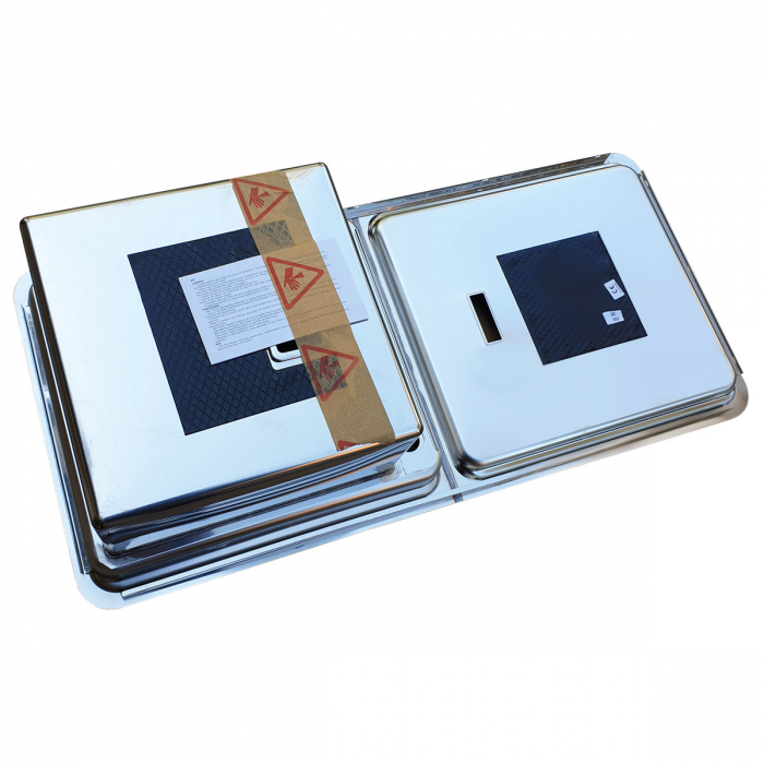 Chiuveta bucatarie inox CookingAid VISION 100 cu baterie telescopica integrata, tocator sticla temperizata + accesorii montaj [7]