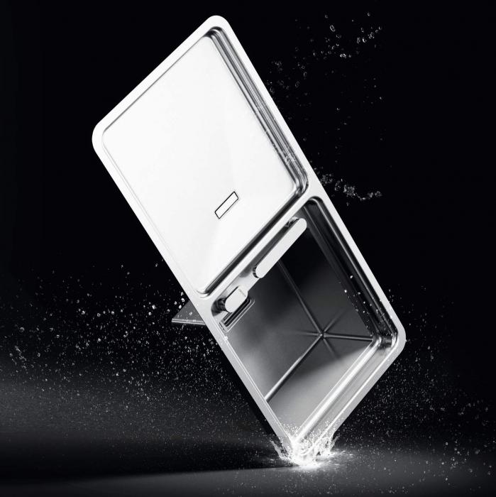 Chiuveta bucatarie inox CookingAid VISION 100 cu baterie telescopica integrata, tocator sticla temperizata + accesorii montaj 5