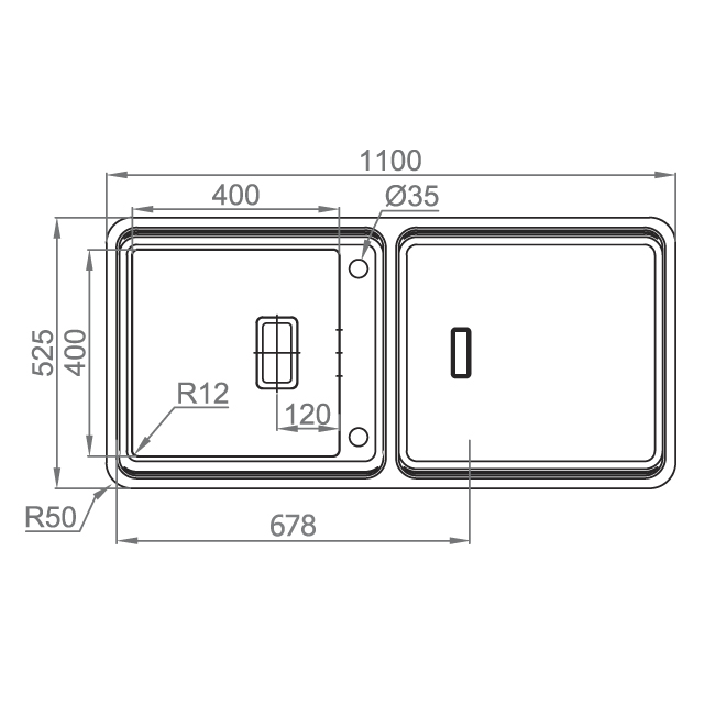 Chiuveta bucatarie inox CookingAid VISION 100 cu baterie telescopica integrata, tocator sticla temperizata + accesorii montaj 8