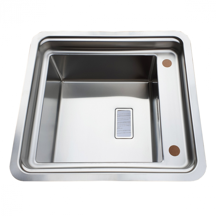 Chiuveta bucatarie inox CookingAid VISION 40 cu baterie telescopica integrata, tocator sticla temperizata + accesorii montaj ideala pentru montaj sub geam [2]