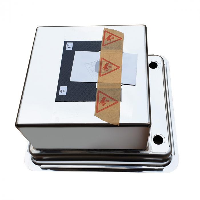 Chiuveta bucatarie inox CookingAid VISION 40 cu baterie telescopica integrata, tocator sticla temperizata + accesorii montaj ideala pentru montaj sub geam [7]