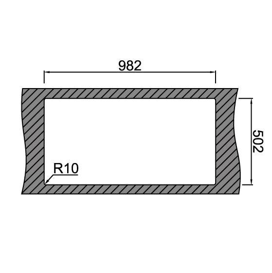 Chiuveta bucatarie inox CookingAid XERON 105 LEFT cu ventil scurgere dreptunghiular automat si accesorii montaj 6