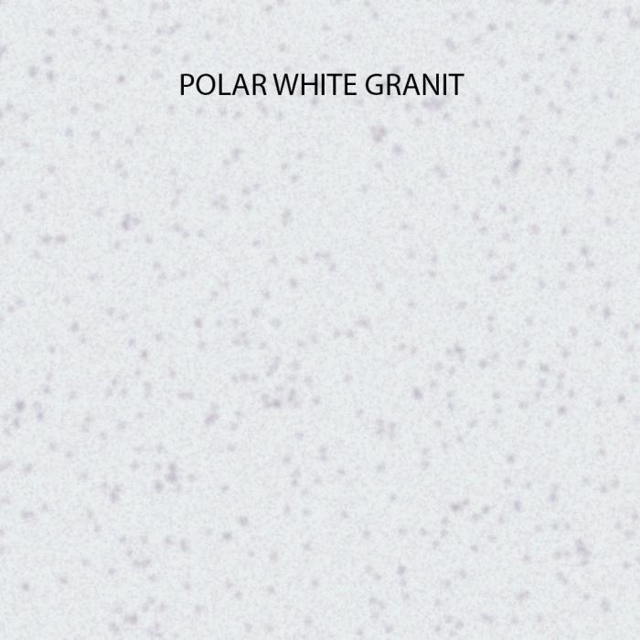 Chiuveta bucatarie rotunda granit CookingAid Naiky NK5110 Alba / Polar White + accesorii montaj 3