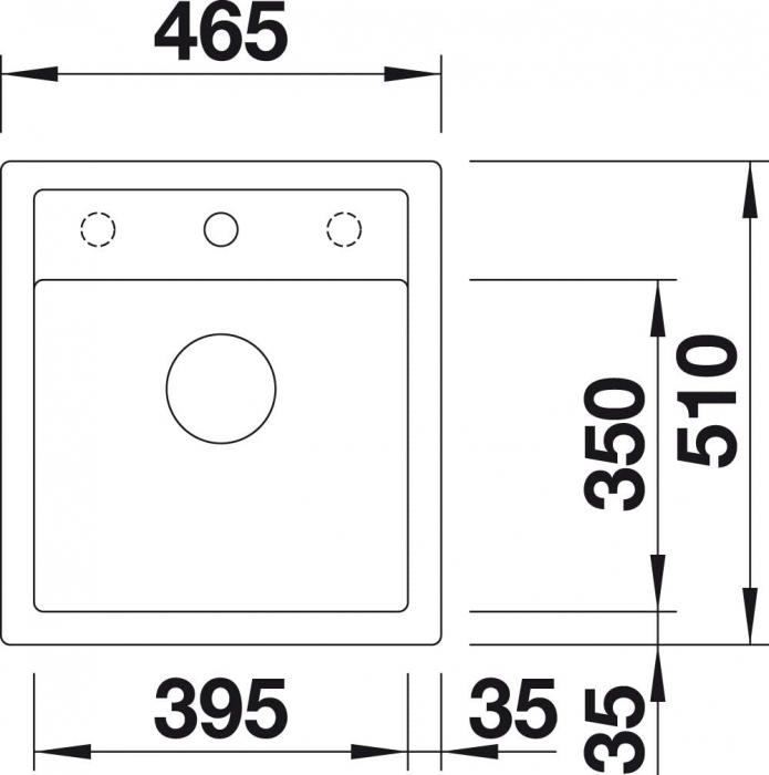 Chiuveta de bucatarie Blanco Dalago 45 silgranit [4]