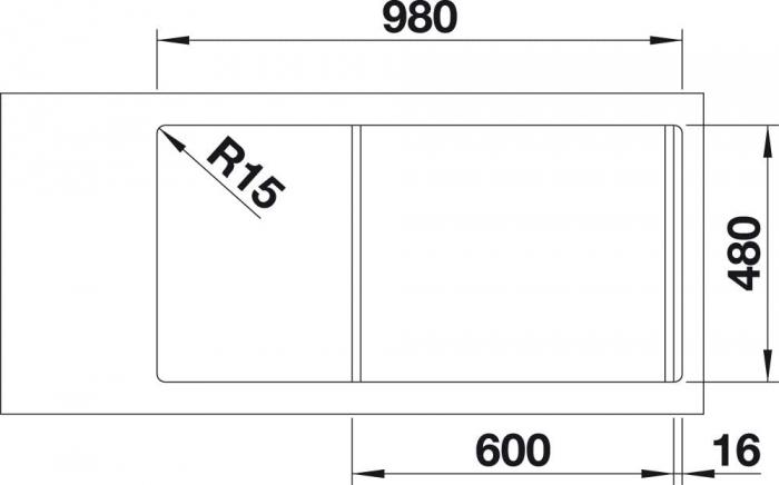 Chiuveta de bucatarie Blanco Faron XL 6 S [4]