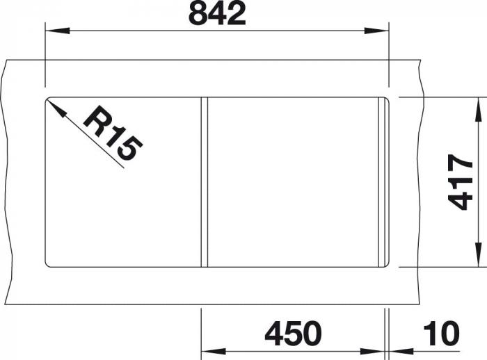 Chiuveta de bucatarie BLANCO FAVOS 45 S Silgranit 1