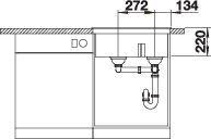 Chiuveta de bucatarie BLANCO PLEON 6 Split Silgranit [8]