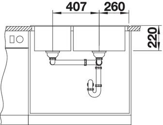 Chiuveta de bucatarie BLANCO PLEON 9, InFino fara accesorii si fara excentric [3]