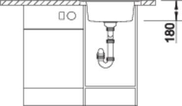 Chiuveta de bucatarie BLANCO RONDOVAL 45 9