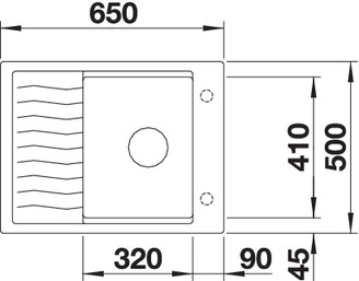 Chiuveta de bucatarie Blanco silgranit ELON 45S 2