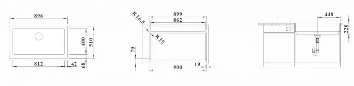 Chiuveta de bucatarie Blanco Vintera XL 9-UF Farmhouse-style [7]