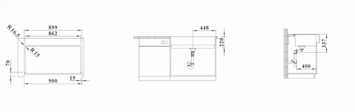 Chiuveta de bucatarie Blanco Vintera XL 9-UF Farmhouse-style [6]