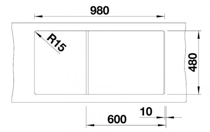 Chiuveta de bucatarie BLANCO ZIA XL 6 S 4