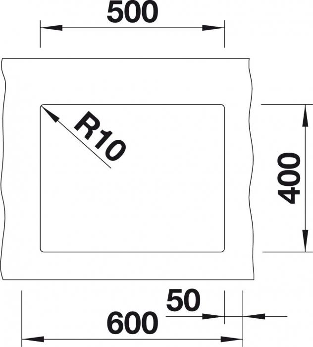 Chiuveta de bucatarie granit BLANCO SUBLINE 500 U Black Edition [3]