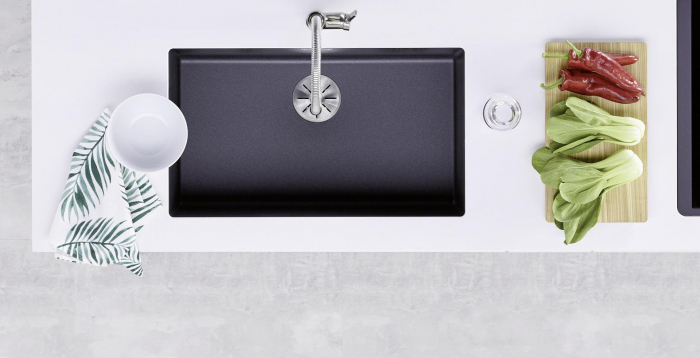 Chiuveta de bucatarie granit Blanco Subline 800U, fara excentric [3]