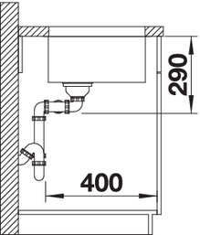Chiuveta de bucatarie inox BLANCO ANDANO 340/340-U [4]