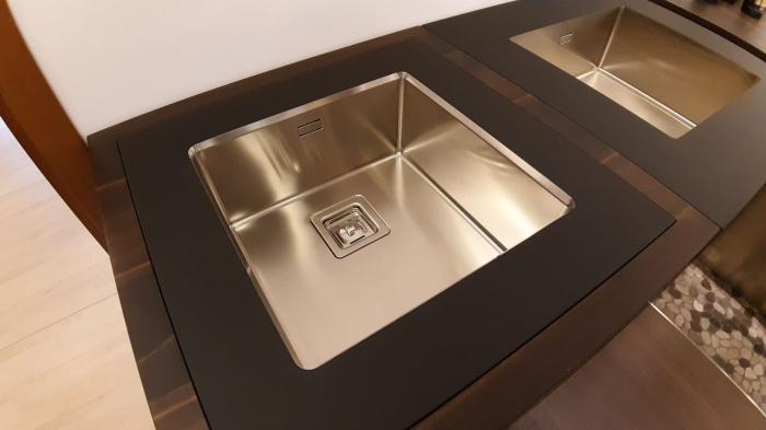Chiuveta de bucatarie inox PVD ArtInox Titanium 34 culoare antracit [5]