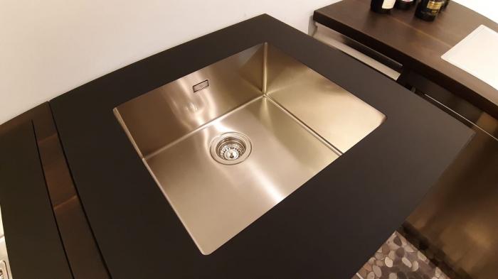 Chiuveta de bucatarie inox PVD ArtInox Titanium 34 culoare antracit [4]