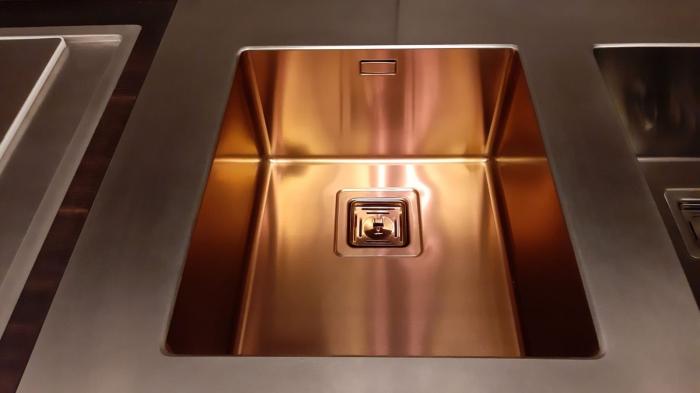 Chiuveta de bucatarie inox PVD ArtInox Titanium 50 culoare cupru [9]