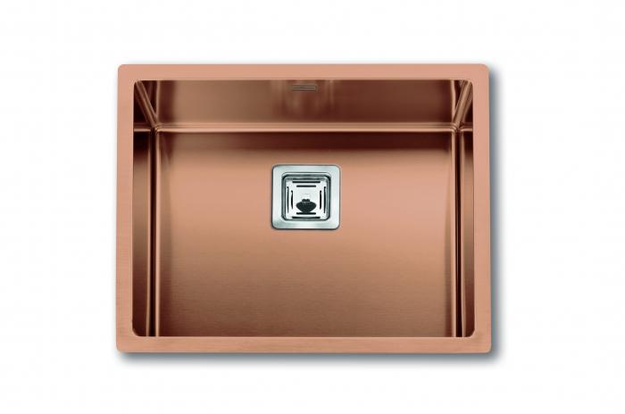 Chiuveta de bucatarie inox PVD ArtInox Titanium 50 culoare cupru [0]