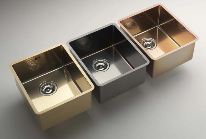 Chiuveta de bucatarie inox PVD ArtInox Titanium 74 gold, culoare aurie [3]