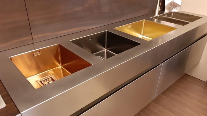 Chiuveta de bucatarie inox PVD ArtInox Titanium 74 gold, culoare aurie [5]