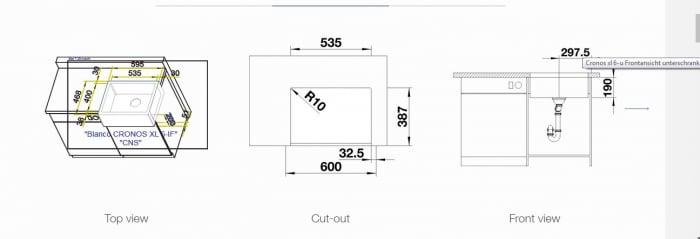 Chiuveta din inox pentru bucatarie Blanco CRONOS  XL 6-U Farmhouse [2]