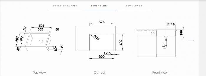 Chiuveta din inox pentru bucatarie Blanco CRONOS  XL 6-IF Farmhouse style [3]