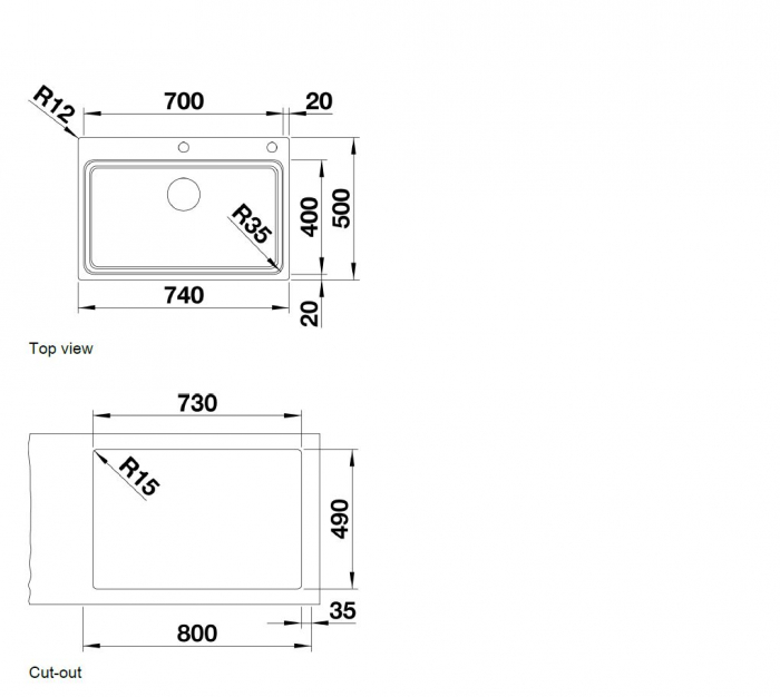 Chiuveta din inox pentru bucatarie Blanco Etagon 700 IF/A cu excentric [5]